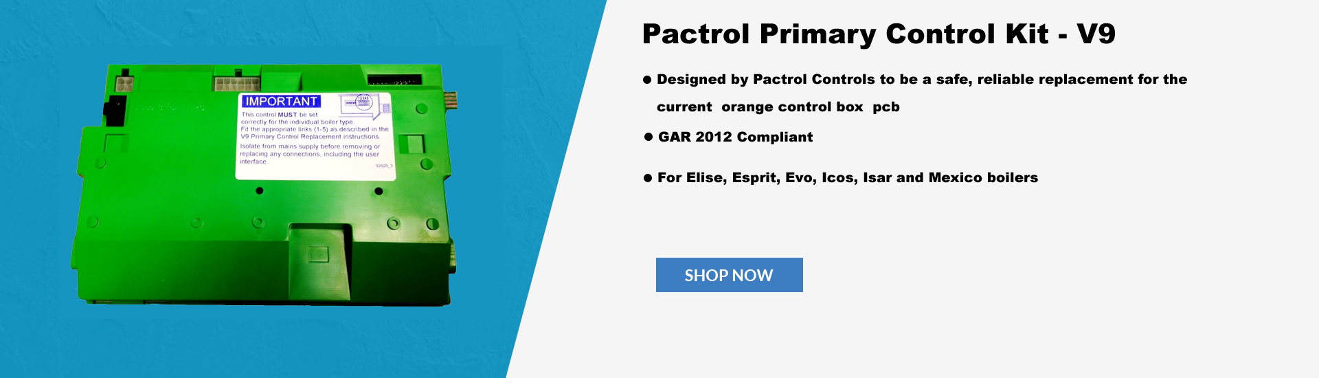 Gas Controls, Direct Heating spares | Pactrol Solutions.